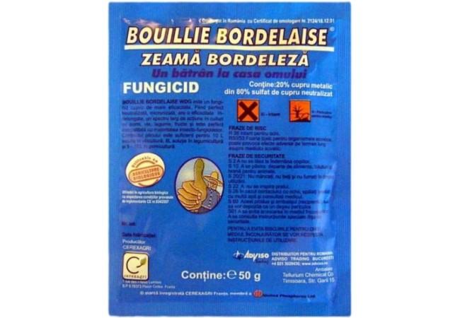 Fungicid Zeama Bordeleza (Bouille Bordelaise) 50